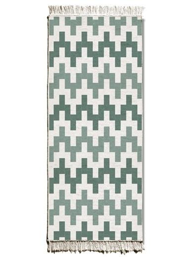 The Mia Kilim 200 x 80 Cm - Çift Taraflı Yeşil